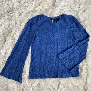 Lace Fluted Sleeve Top
